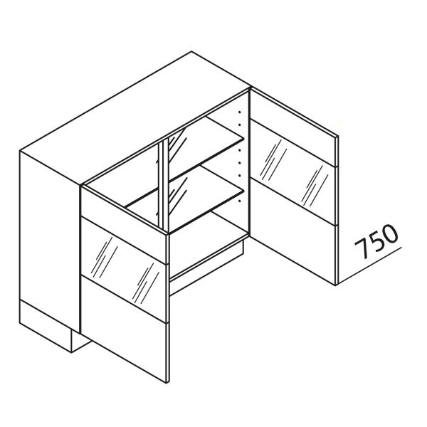 Nolte Küchen Unterschrank mit Glas UDDVQ90-75-39