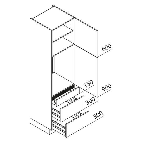 Nolte Küchen Hochschrank Geräteschrank GKAK225-88