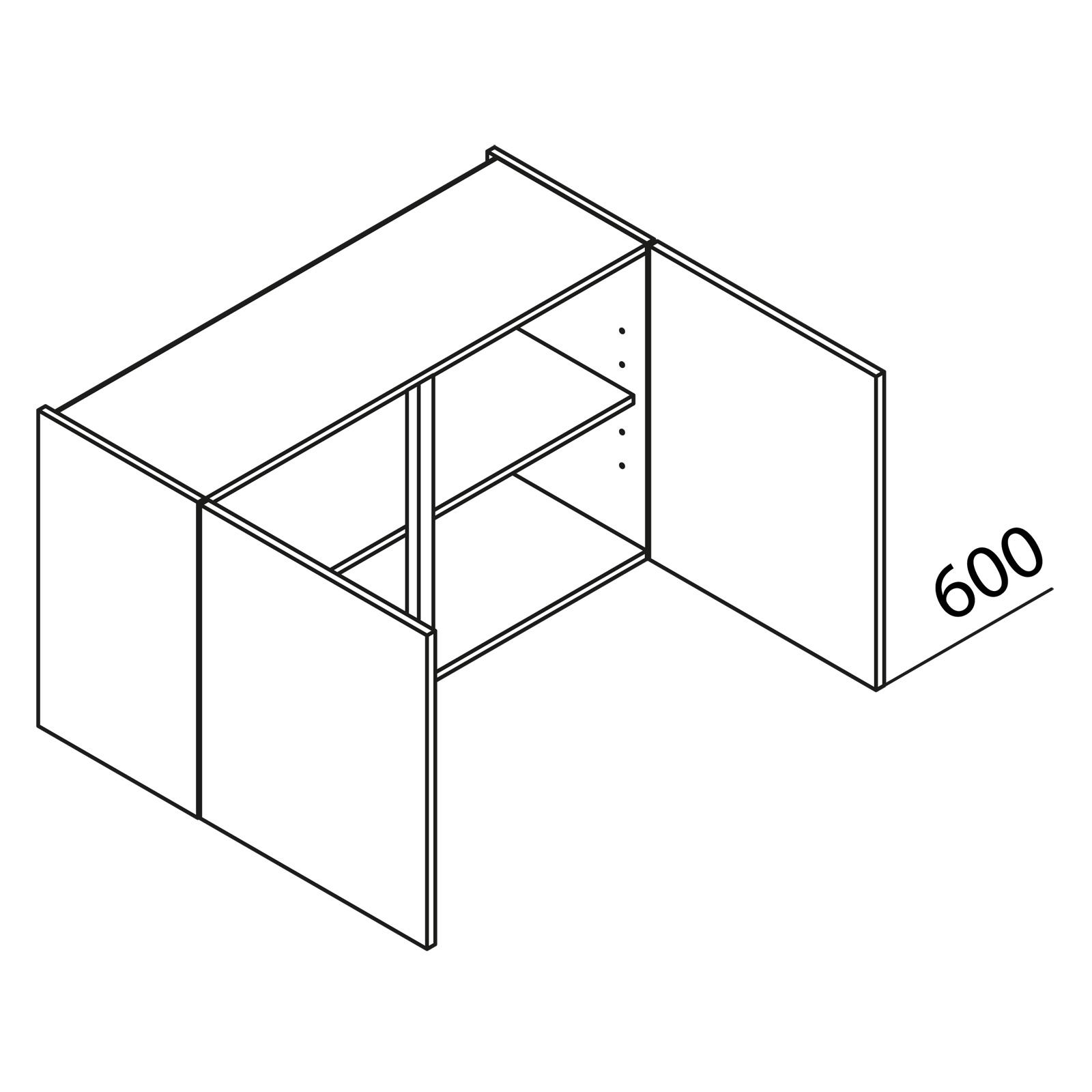 nolte k chen h ngeschrank h90 60. Black Bedroom Furniture Sets. Home Design Ideas