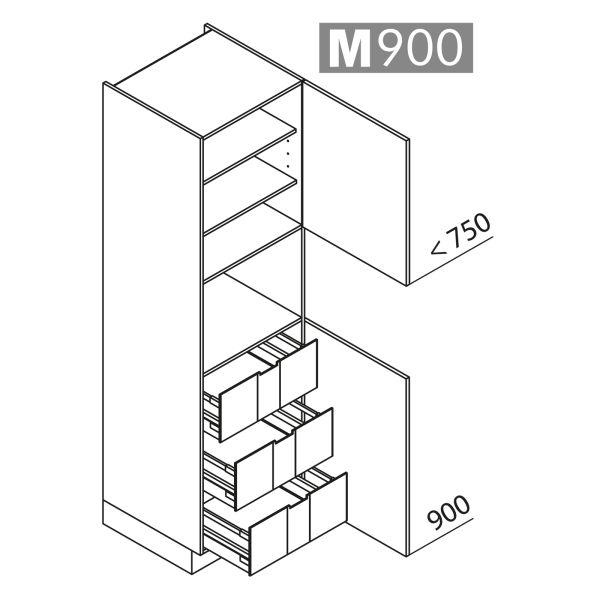 Nolte Küchen Hochschrank Geräteschrank GBI210-4