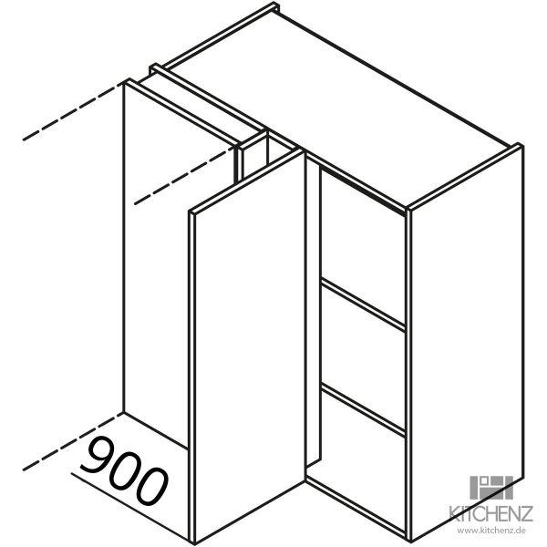 Nolte Küchen Eck Hängeschrank HES90-90-L