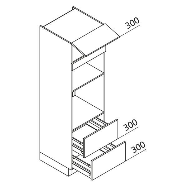 Nolte Küchen Hochschrank Geräteschrank GBBAZ195-3-1