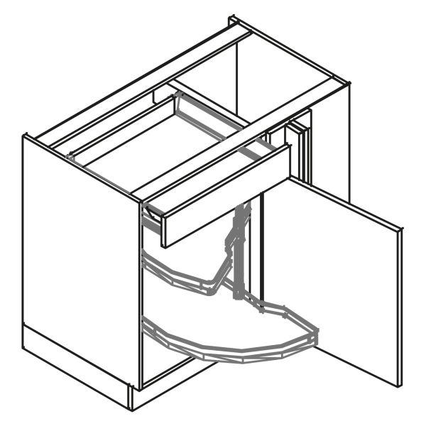 kitchenz k1 Eckschrank UE6-115SDHC-L
