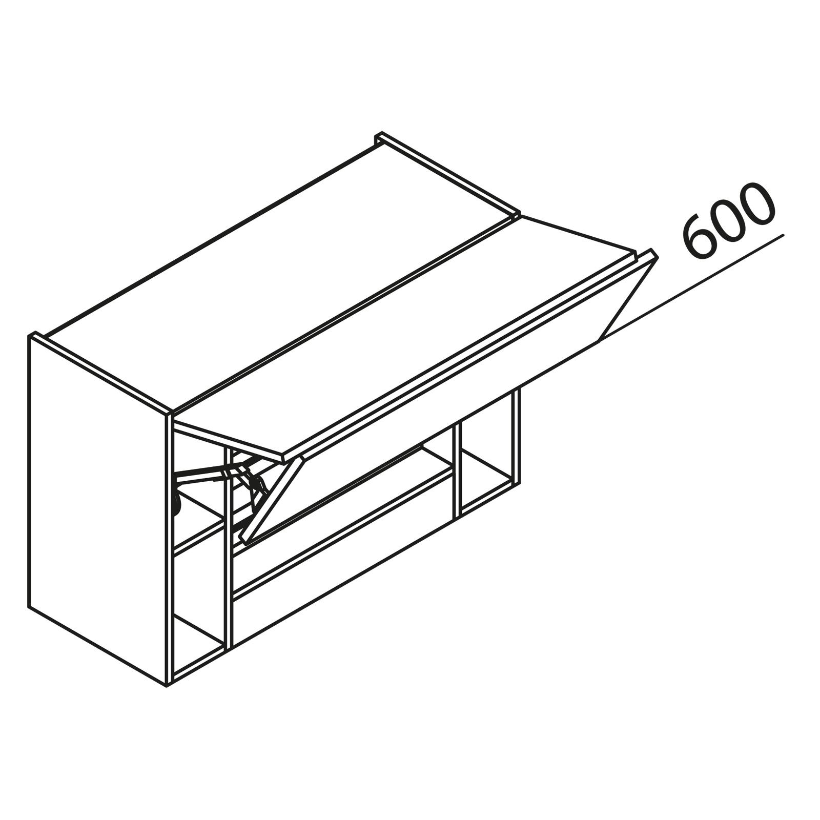 nolte k chen h ngeschrank f r dunstabzug hwufk120 60. Black Bedroom Furniture Sets. Home Design Ideas