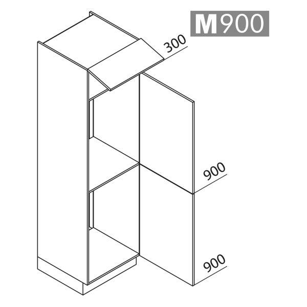 Nolte Küchen Hochschrank Geräteschrank GKK210-88-88