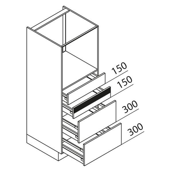 Nolte Küchen Hochschrank Geräteschrank GBAK150-3