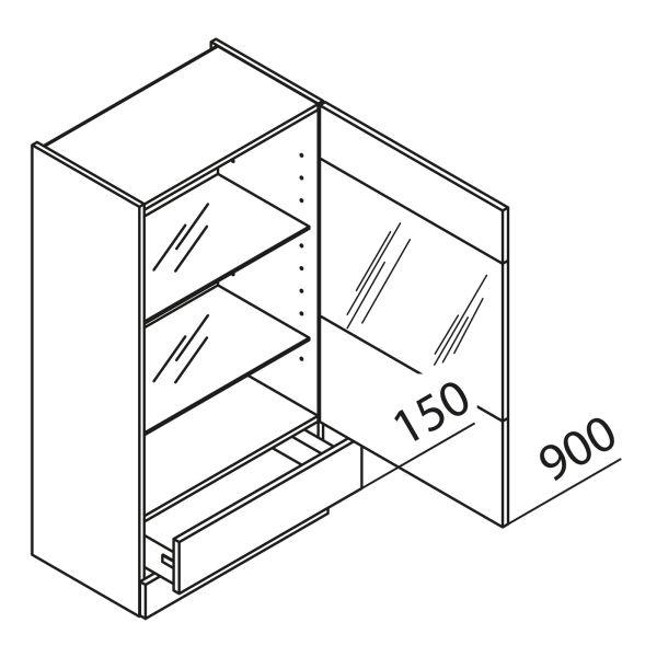 Aufsatzschrank mit Glastür HASKVQ50-115
