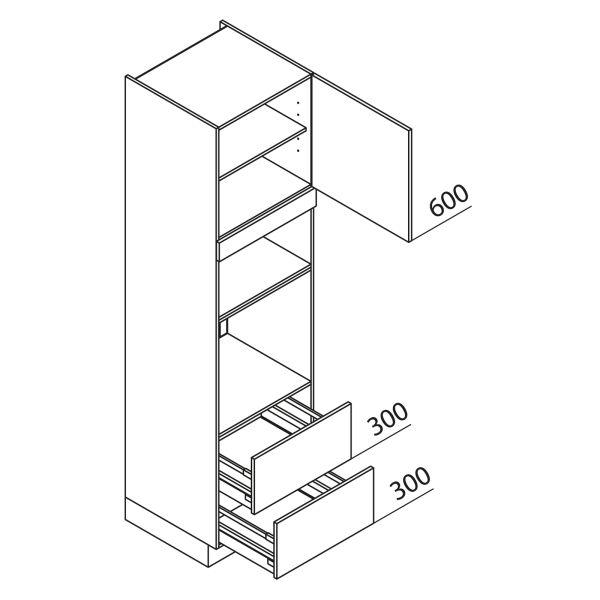 Nolte Küchen Hochschrank Geräteschrank GBBAZ225-3-1
