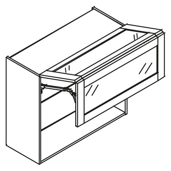 kitchenz k1 Glas Hängeschrank HGP6-100FL-GR