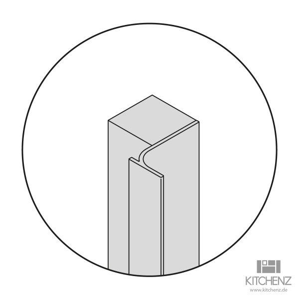 Nolte Küchen Vertikale Griffmulde L-Profil YP-L-210
