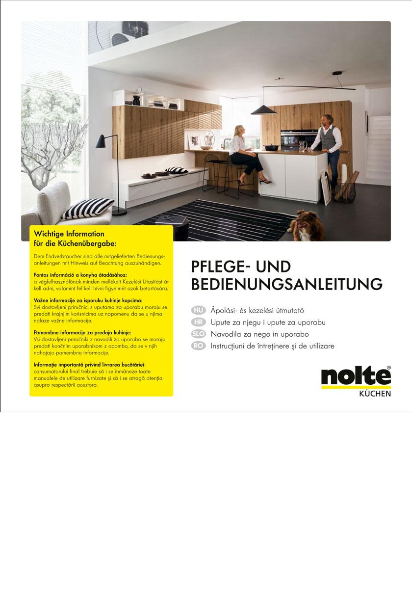 Nolte Küchen Katalog Pflege und Bedienungsanleitung