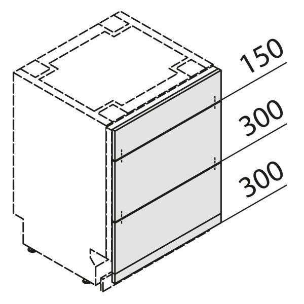 Türfront für Geschirrspüler GSBS45-S7-UAK