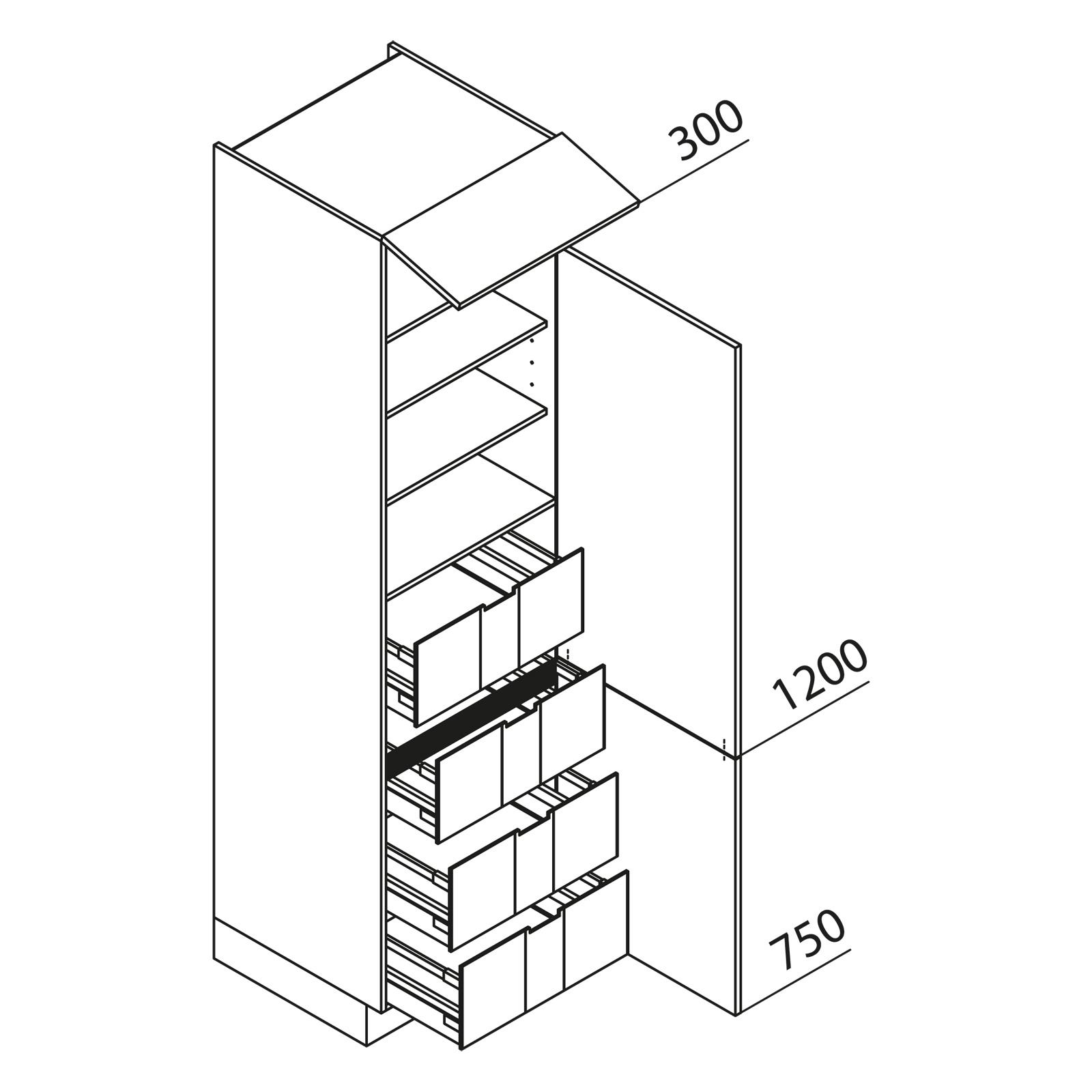 nolte k chen hochschrank vi60 225. Black Bedroom Furniture Sets. Home Design Ideas