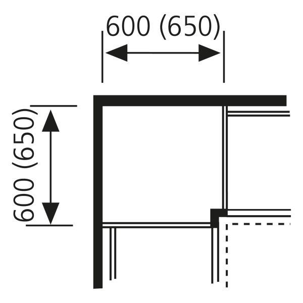 Nolte Küchen Unterschrank Eck-Passstück Frontbezogen UPE65-90