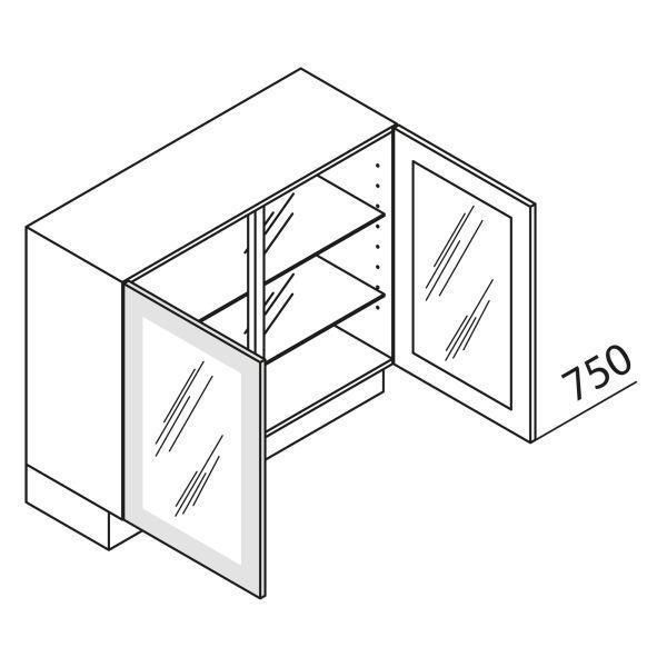 Nolte Küchen Unterschrank mit Glastür UDDDF90-75-39