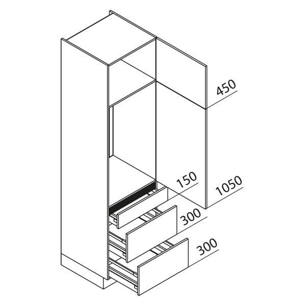 Nolte Küchen Hochschrank Geräteschrank GKAK225-103