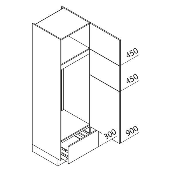 Nolte Küchen Hochschrank Geräteschrank GKGA210-123