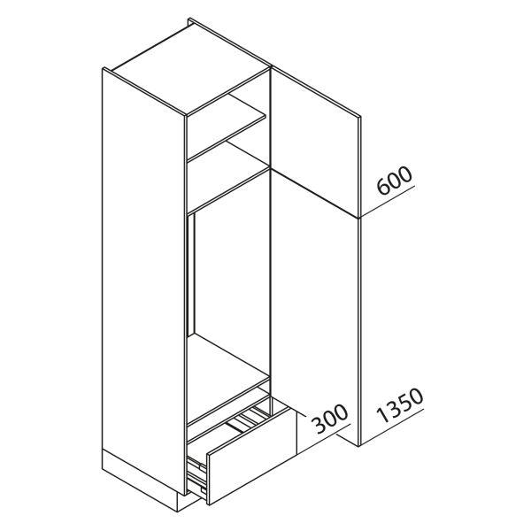Nolte Küchen Hochschrank Geräteschrank GKA225-123