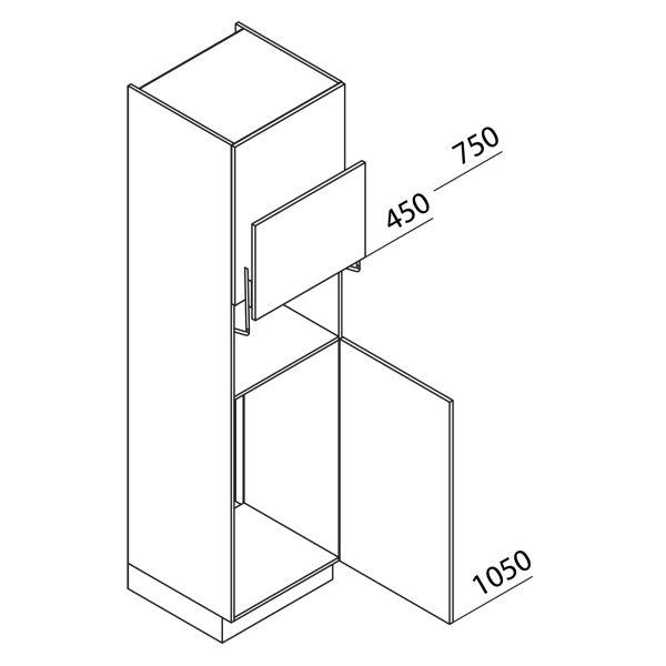 Nolte Küchen Hochschrank Geräteschrank GKL225-103