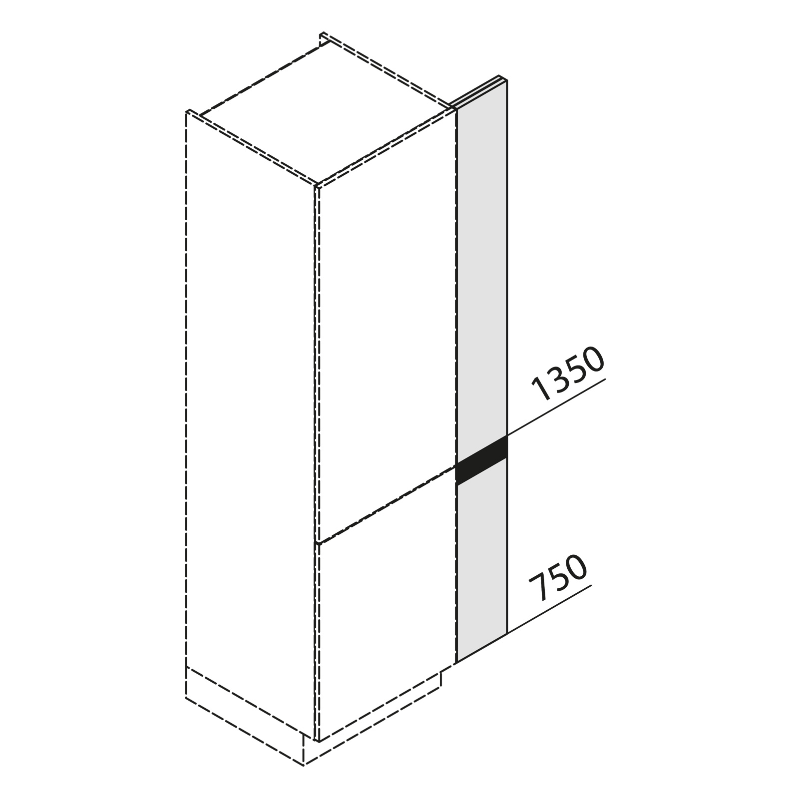 nolte k chen hochschrank front passst ck sp1 210 09. Black Bedroom Furniture Sets. Home Design Ideas