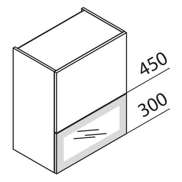 Faltklappenschrank mit Glas DE HFKDEPU90-75