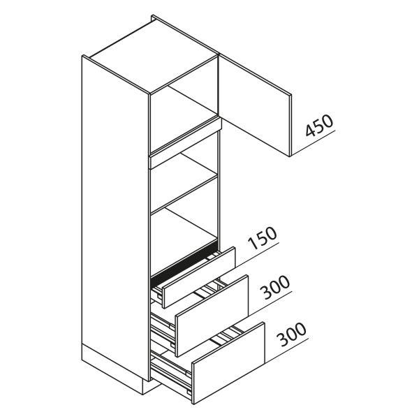 Nolte Küchen Hochschrank Geräteschrank GBBAK210-2-1