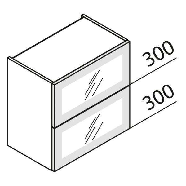 Faltklappenschrank mit Glas HFKDF90-60