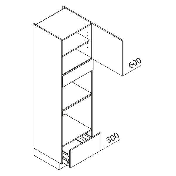 Nolte Küchen Hochschrank Geräteschrank GBBA210-3-2