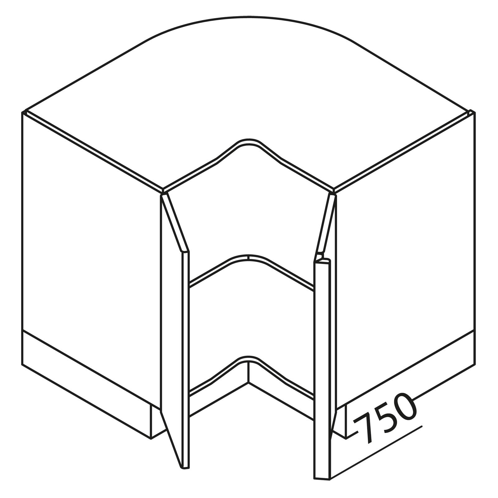 nolte k chen unterschrank eckschrank ueke90. Black Bedroom Furniture Sets. Home Design Ideas