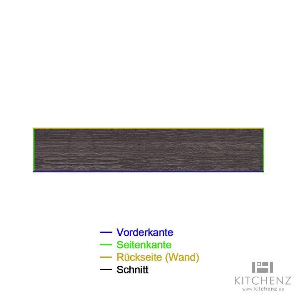 kitchenz k1 Zeilen Arbeitsplatte AP-ZEILE