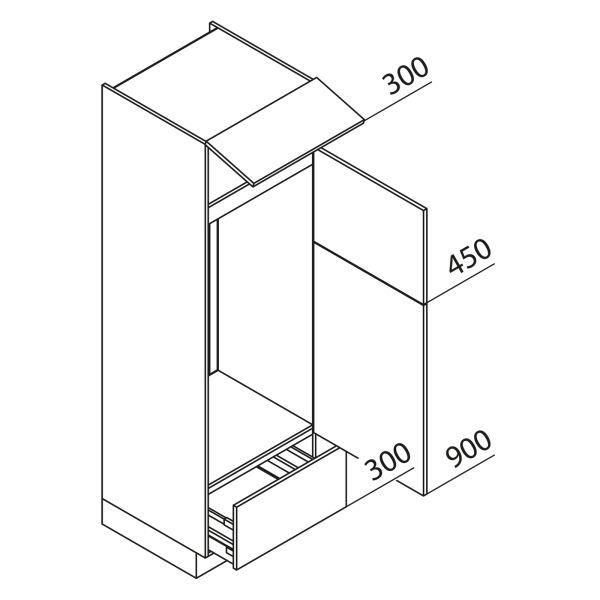 Nolte Küchen Hochschrank Geräteschrank GKGA195-123