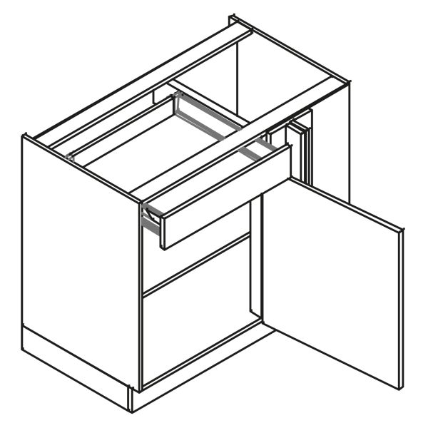kitchenz k1 Eckschrank UE6-125S-L