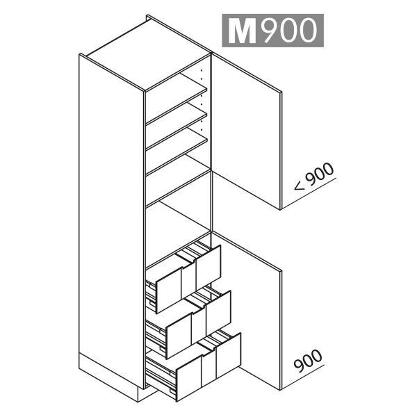 Nolte Küchen Hochschrank Geräteschrank GBI225-4