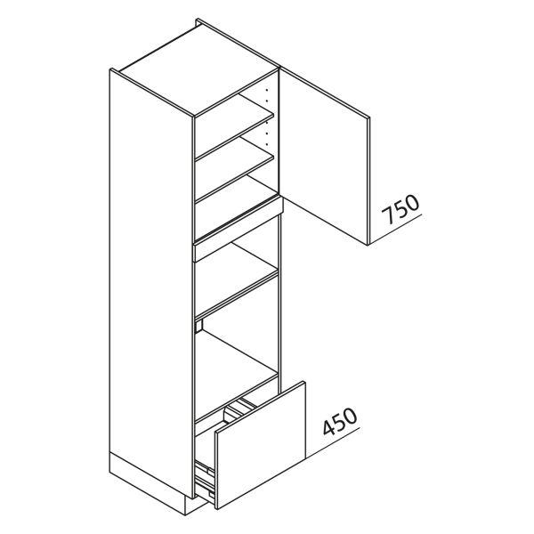 Nolte Küchen Hochschrank Geräteschrank GBBA225-3-1-01
