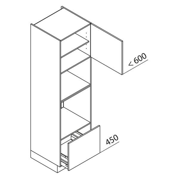 Nolte Küchen Hochschrank Geräteschrank GBBA210-3-4-01