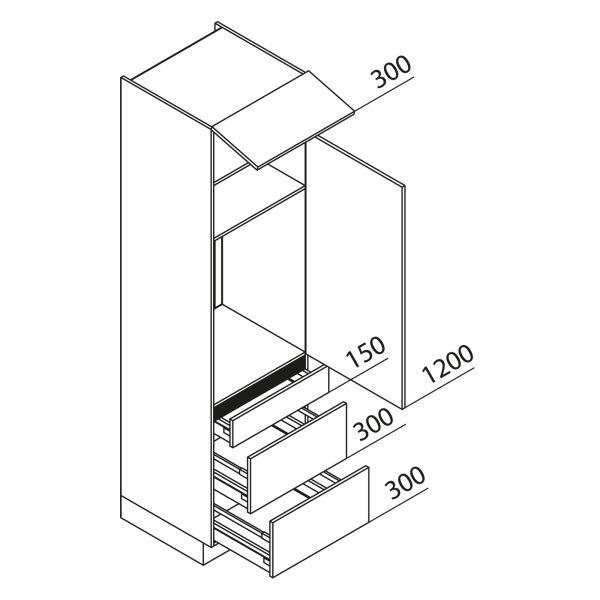Nolte Küchen Hochschrank Geräteschrank GKAK225-88-09