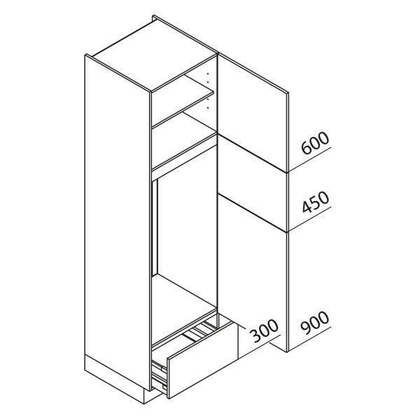 Nolte Küchen Hochschrank Geräteschrank GKGA225-123