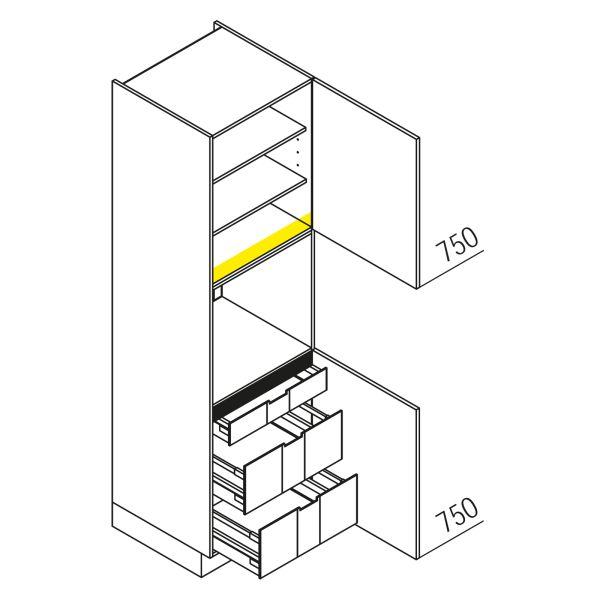 Nolte Küchen Hochschrank Geräteschrank GBI210-3