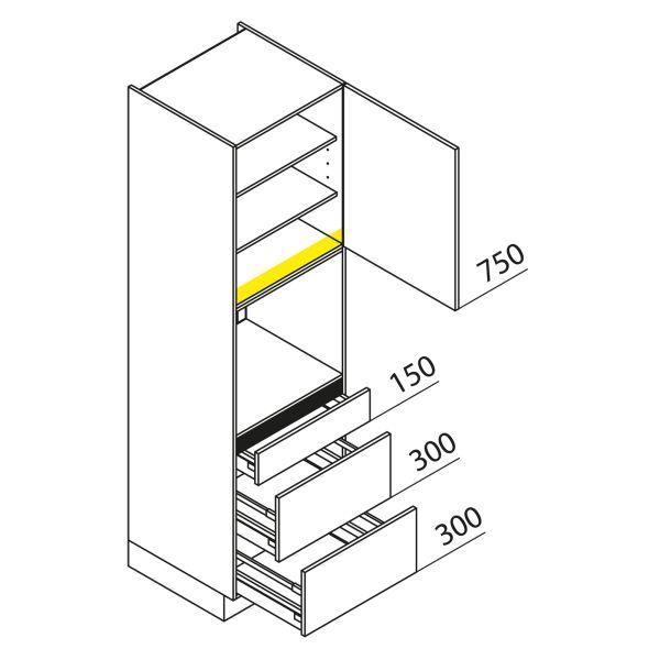 Nolte Küchen Hochschrank Geräteschrank GBAK210-3