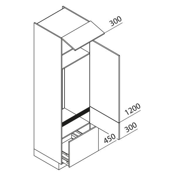 Nolte Küchen Hochschrank Geräteschrank GKA225-123-08