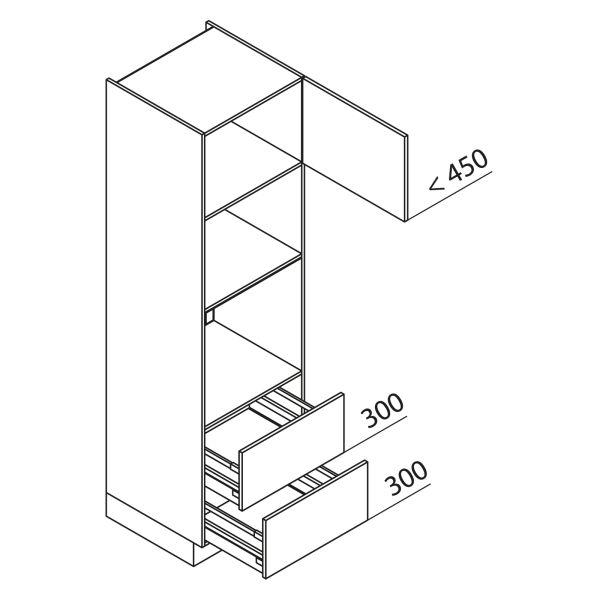 Nolte Küchen Hochschrank Geräteschrank GBBAZ210-3-4