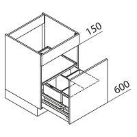 Unterschrank Spülenschrank mit Abfallsystem Nolte Küchen SAB60