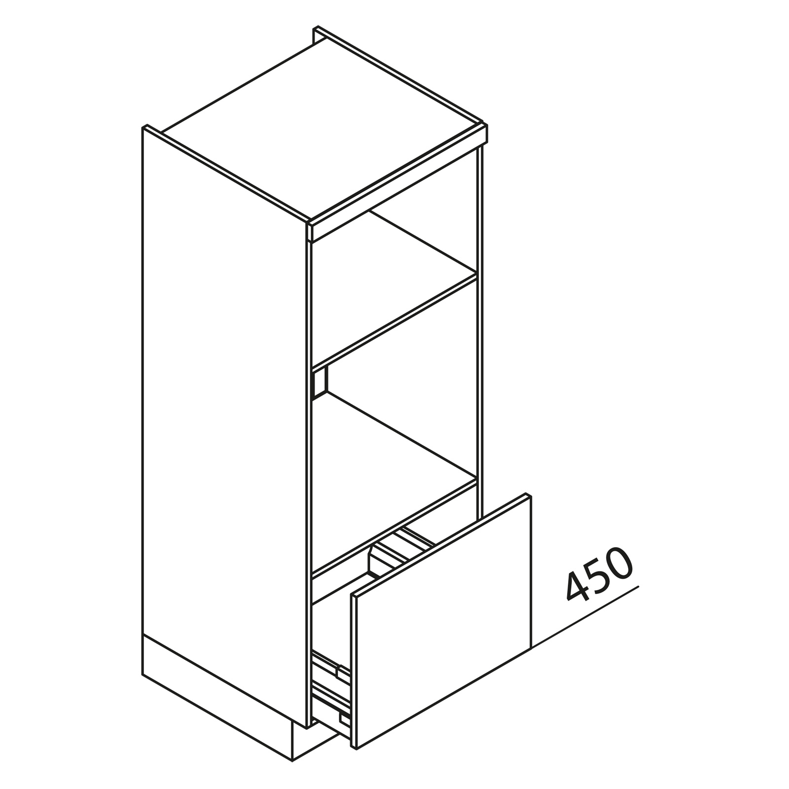 nolte k chen hochschrank ger teschrank gbba150 3 1. Black Bedroom Furniture Sets. Home Design Ideas
