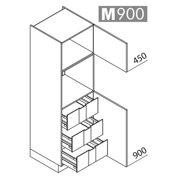 Nolte Küchen Hochschrank Geräteschrank GBI195-3-01