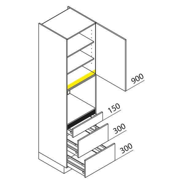 Nolte Küchen Hochschrank Geräteschrank GBAK225-3