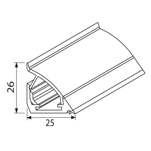 Nischenverkleidung Kombiprofil NVD-K-PROF300