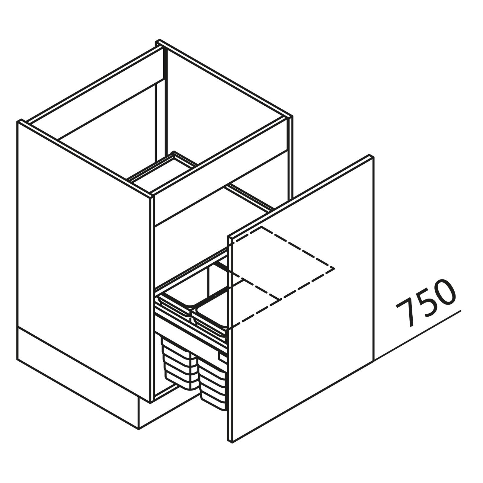 nolte k chen unterschrank sp lenschrank mit abfallsystem sabhd60 02. Black Bedroom Furniture Sets. Home Design Ideas