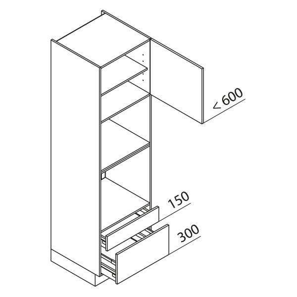 Nolte Küchen Hochschrank Geräteschrank GBBAS210-3-4
