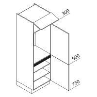 Nolte Küchen Hochschrank Geräteschrank GK195-88