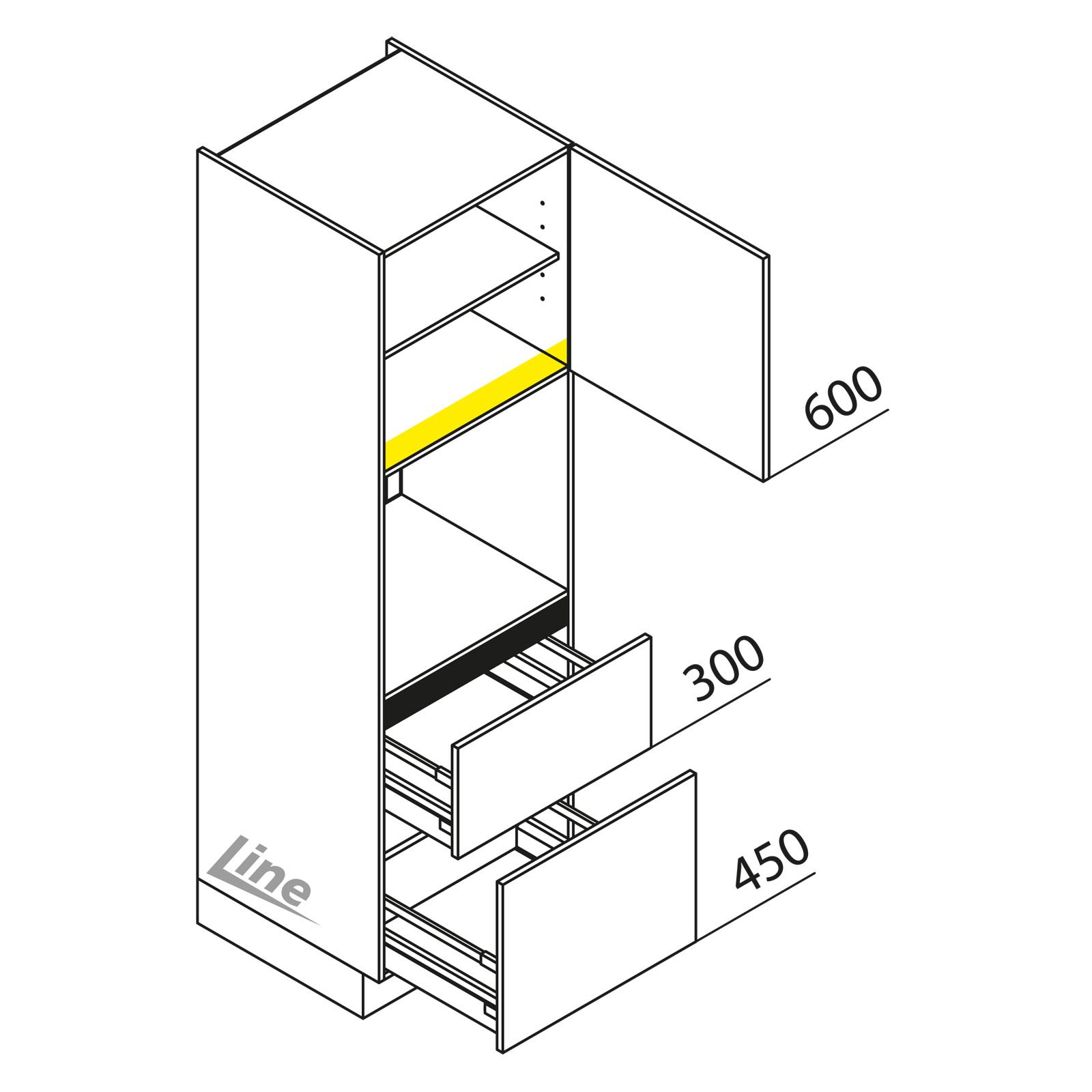 nolte k chen hochschrank ger teschrank gbz195 3. Black Bedroom Furniture Sets. Home Design Ideas